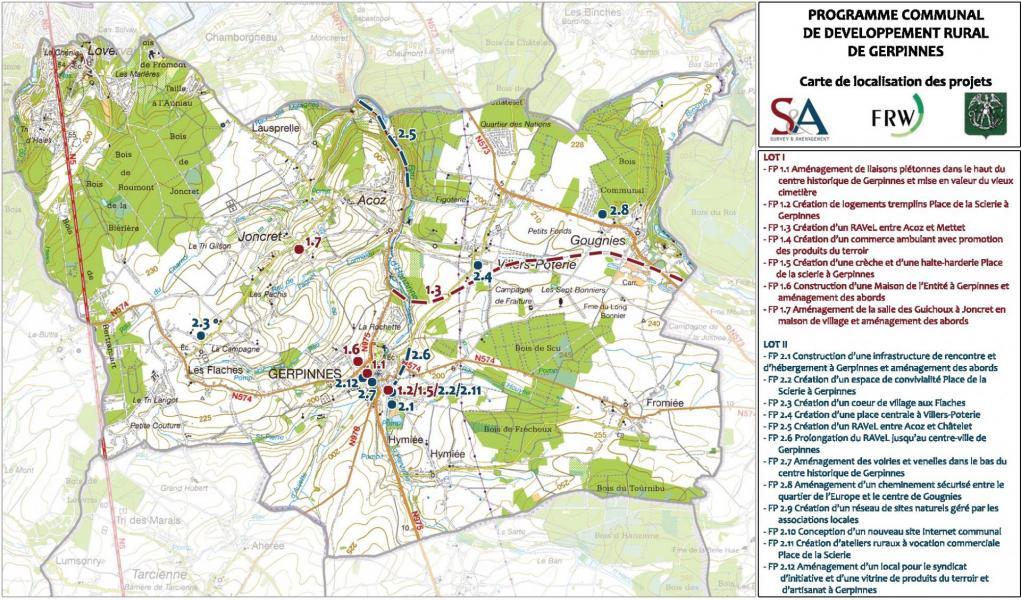 Carte des projets